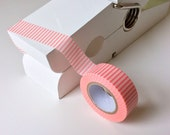 Pale Pink and White with Skinny Stripes Washi Tape 15mm x 10m Pink Washi tape, Washy tape, Masking tape, Gift tape, Baby girl, Baby shower
