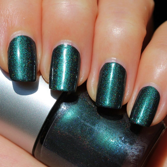 Enchanted Forest Franken Nail Polish Deep Emerald Green