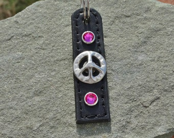 Peace sign Keyring