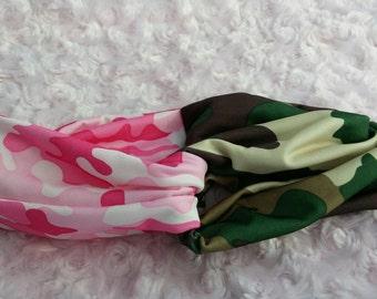 2 Twist style headbands - head wrap - sweatband - hair wrap