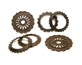 Iron Alchemy Collection Industrial Iron Wheels Gears Accidental Art No. 601