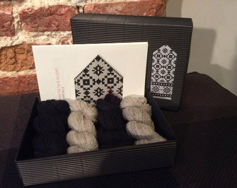 "The Latvian Traditional Mitten Pattern kit ""Knit like a Latvian"": LATVIAN GRAY"