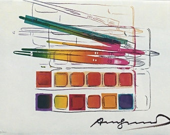 Andy Warhol II.288 Watercolor Paintkit With Brushes - 1982 - Signed Lithograph - COA - See Live at GallArt