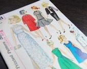 1960's Simplicity Pattern 6208 - Doll Clothes - For Ideal Dolls And Barbie Dolls