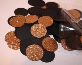 Black and Gold Party Confetti 200CT