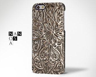 Wood Carve Floral iPhone 6s Plus Case,iPhone 6 Plus Case,iPhone 6s Case,iPhone 6 Case,iPhone 5s Case,iPhone 5 Case,iPhone 5c case,4/4s Case