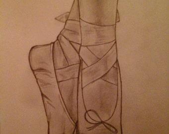 Ballet Drawing ORIGINAL