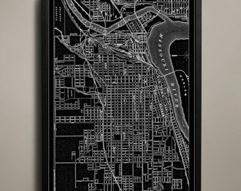 Kansas City Map - Kansas City Poster - Kansas City Print - KC Map Print - KC Poster - Map of Kansas City - KC Print