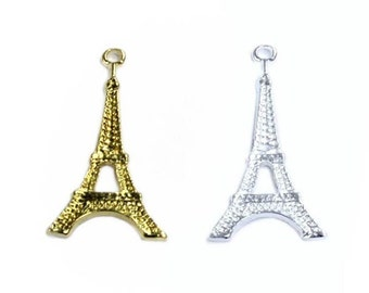 Metal Eiffel Tower Charms (pack of 4)