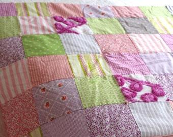 Chenille Quilt Patchwork Quilt Toddler Quilt Lap