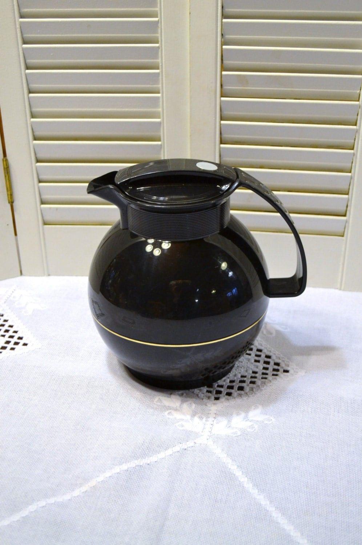 Vintage Thermos Coffee Carafe Black Model 360 West Germany