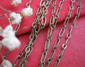 Retro Vintage closed O brass chains,5*2mm links chains,necklace chains supplies,beading chains,watch necklace chains No.24024