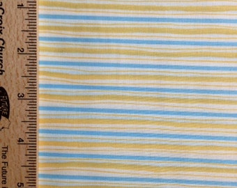 Dena Designs fabric Pastel Narrow Stripe DF02 Gold white blue sewing/quilting 100% cotton fabric free spirit by the yard