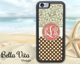 Floral Paisley iPhone 5C Case, Monogrammed iPhone 5C Case, Personalized iPhone 5C Case
