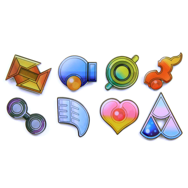 Pokemon badges gen 3 oras hoenn league by pokemonbadges on etsy
