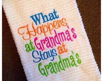 What happens at Grandma's stays at Grandma's, kitchen dish towel