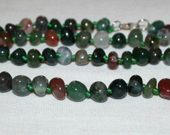 Jasper beads. Green Jasper beads.