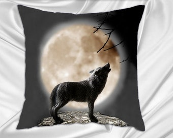 Wolf Pillow Case Decorate Throw Pillow Cover 16x16 Animal Decorative Pillow Shams