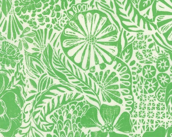 Half Yard Horizon - Flora in Green - Cotton Quilt Fabric - designed by Kate Spain for Moda Fabrics - 27190-11 (W2294)