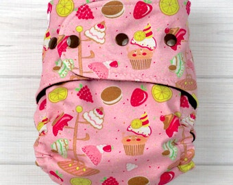 Cupcakes - All In Two Cloth Diaper - One Size Fits Most Babies