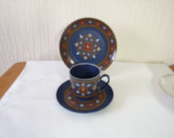 Coffee Cup and Saucers and Side plate  WINTERLING Bavaria Schwarzenbach hand painted