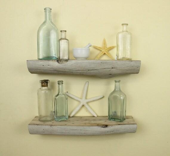 Driftwood shelves 15 3 4l set of 2 natural for Driftwood wall shelves