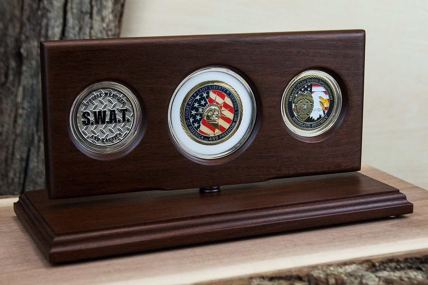 Challenge Coin Display Military Coin Holder Rotating