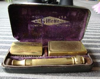 Vintage Gillette razor in case