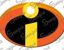 DIGITAL printalbe DIY -Incredibles Logo for magnets, shirts, window clings or most any application.......:)