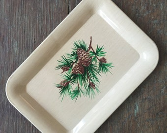 small metal 1960's tray
