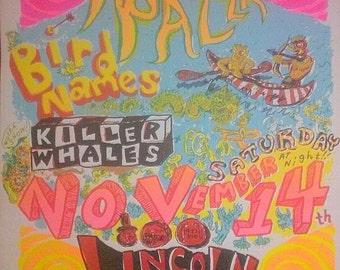 Screenprinted poster by Keith Herzik