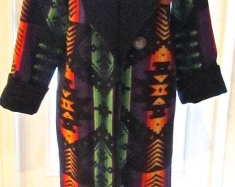 Exquisite Vintage Women's Custom  Indian Blanket Coat REDUCED!
