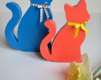 Kitty wooden decoration