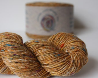 Spinning Yarns Weaving Tales - Tirchonaill 571 Carnival Custard 100% Merino for Knitting, Crochet, Warp & Weft