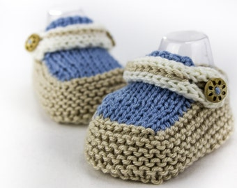 Knitting Pattern For Baby Boy Shoes : KNITTING PATTERN Baby Boat Shoes Easy Knit Baby Boy