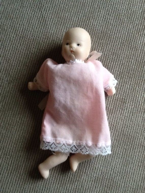 Vintage Baby Doll From  S Painted Eyes Cloth Body