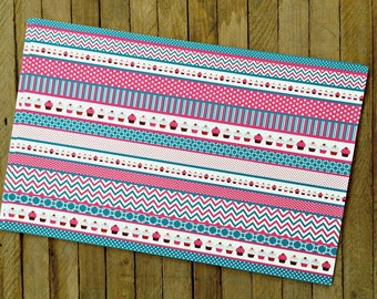Pink and Blue  Cupcakes Paper Placemats- Pack of 8