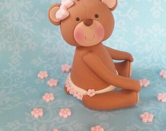 Fondant Baby Teddy Bear with diaper