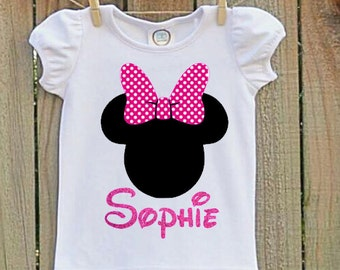 Pink Minnie Mouse  Shirt, Minnie Mouse Shirt, Girls Minnie Mouse Shirt, Minnie Mouse, Minnie Mouse Birthday Party, Girls Minnie Mouse Shirt