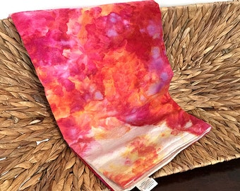 "Organic Baby Blanket- 100% GOTS certified Organic Cotton- ""Fire""-Ready to Ship"