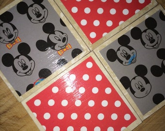 Popular Items For Mickey Mouse Coaster On Etsy