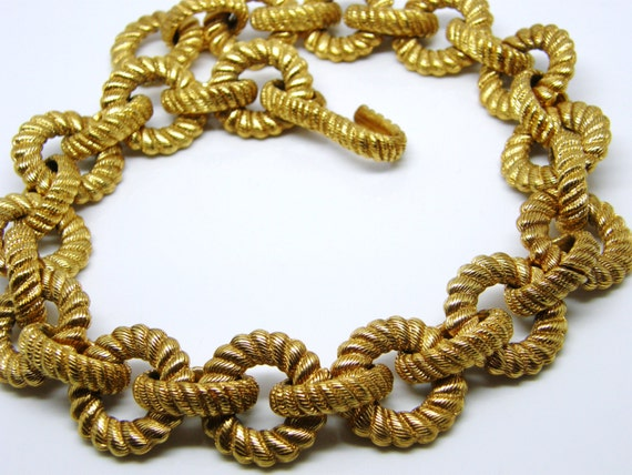 Heavy Gold Chain Necklace Carlisle Necklace Heavy Gold