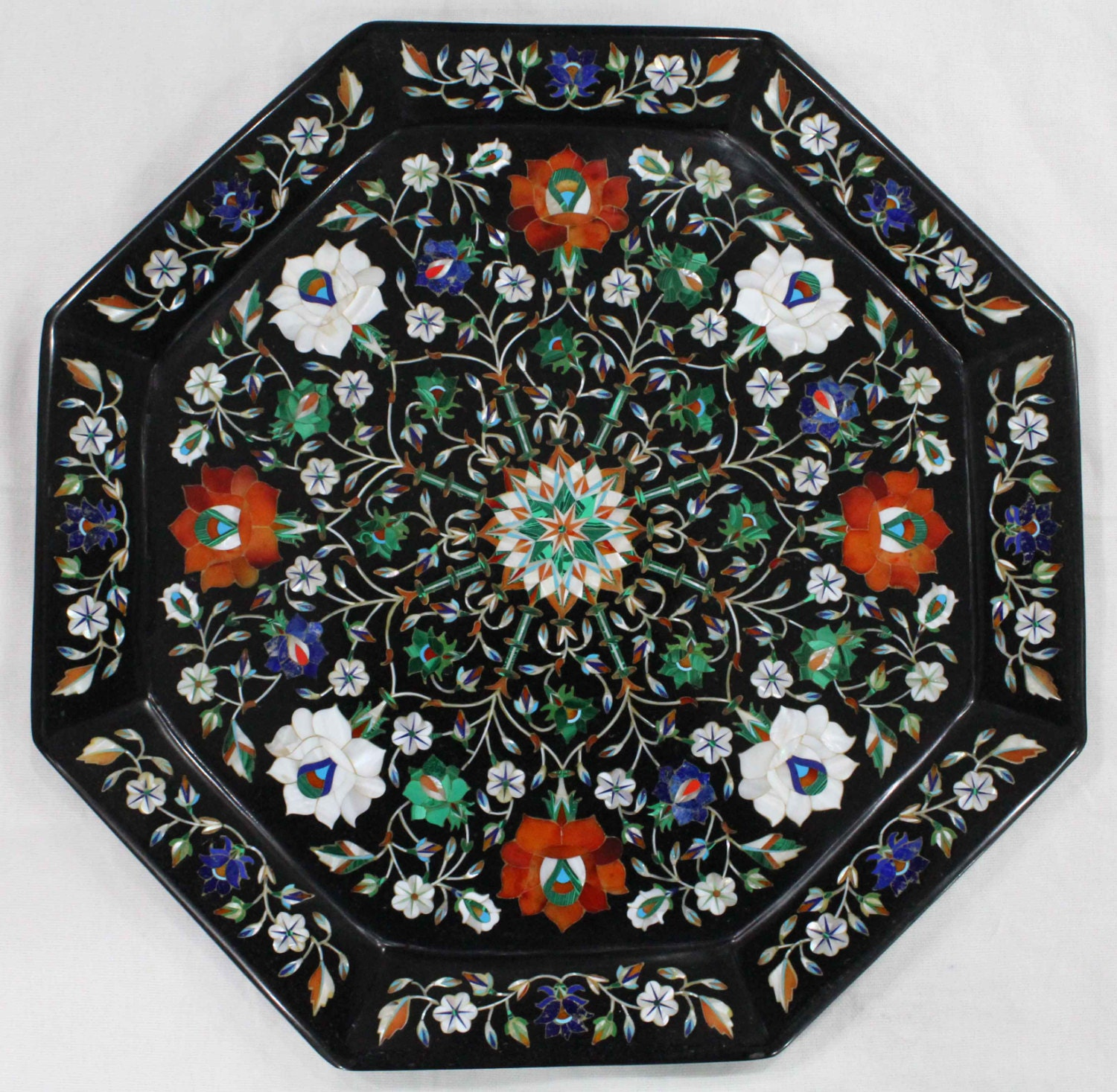 Wall Plates Octagonal Marble Inlay Plate Hand Made