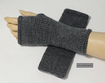 Arm warmers / Gloves, Merino, gray melange
