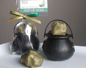St Patricks Day Gift - Pot of Gold, St Patricks Day Soap, Gold Nugget Soap, Irish Soap Gift, Party Favors