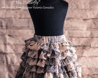 "Ruffled Skirt ""Ms. Butterfly"" - SALE"