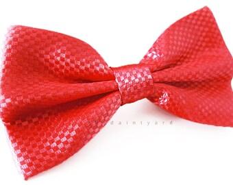 Classy Red Bow Tie Men Adult Groomsmen