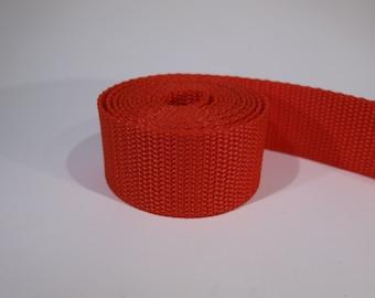 3 yards of 1.25 inch / 32mm red webbing, strap (WB13)