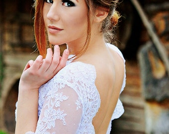 SALE-20% Short white wedding dress