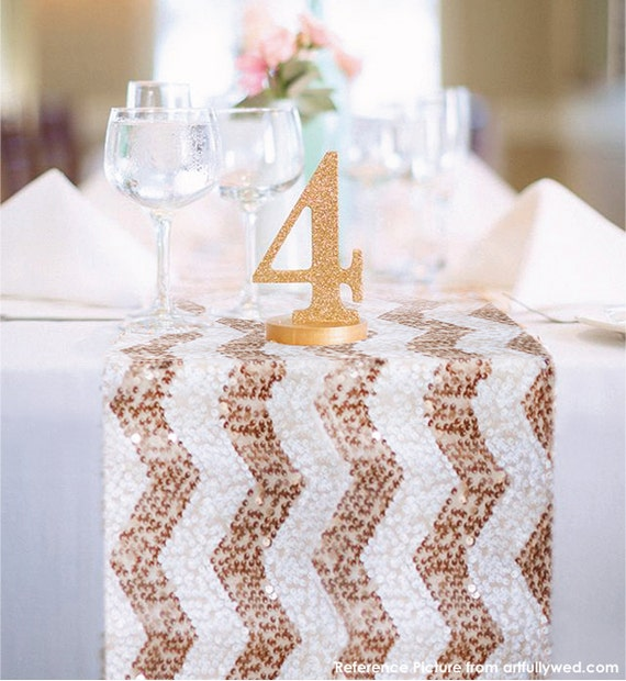 chevron sequin table runner ready to ship sparkly wedding. Black Bedroom Furniture Sets. Home Design Ideas